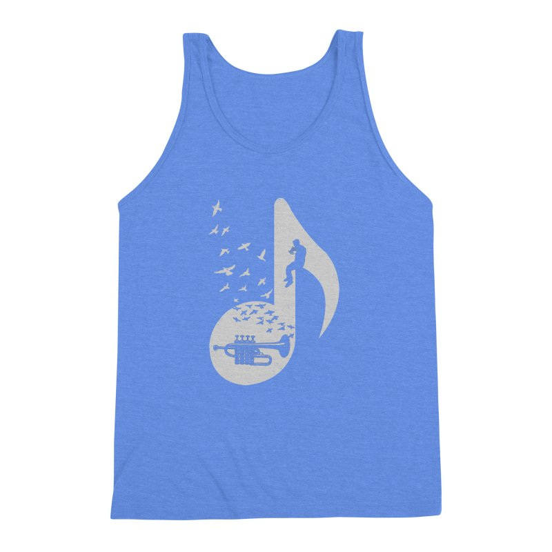 Musical - Piccolo Trumpet Men's Triblend Tank by barmalisiRTB