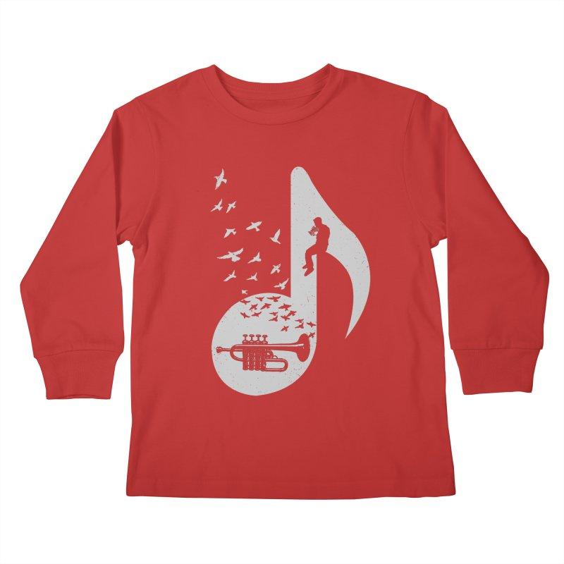 Musical - Piccolo Trumpet Kids Longsleeve T-Shirt by barmalisiRTB