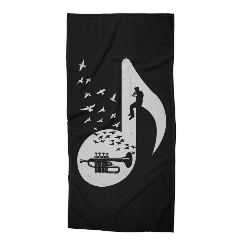 Musical - Piccolo Trumpet Accessories Beach Towel by barmalisiRTB
