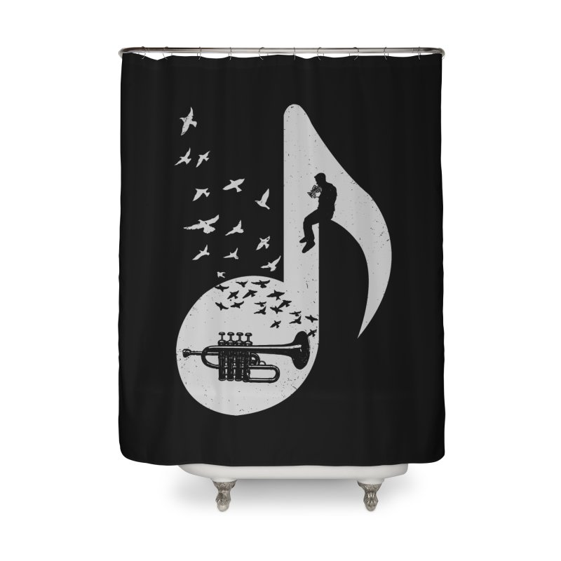 Musical - Piccolo Trumpet Home Shower Curtain by barmalisiRTB