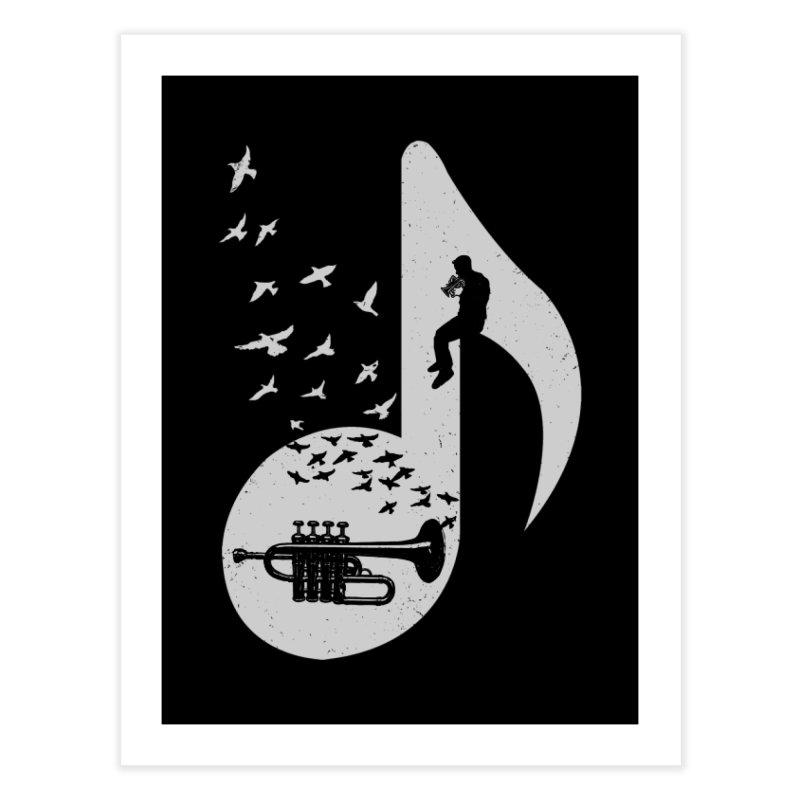 Musical - Piccolo Trumpet Home Fine Art Print by barmalisiRTB