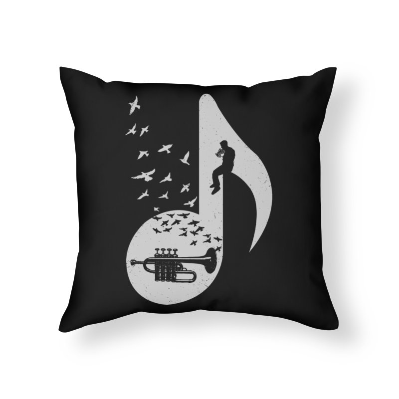 Musical - Piccolo Trumpet Home Throw Pillow by barmalisiRTB