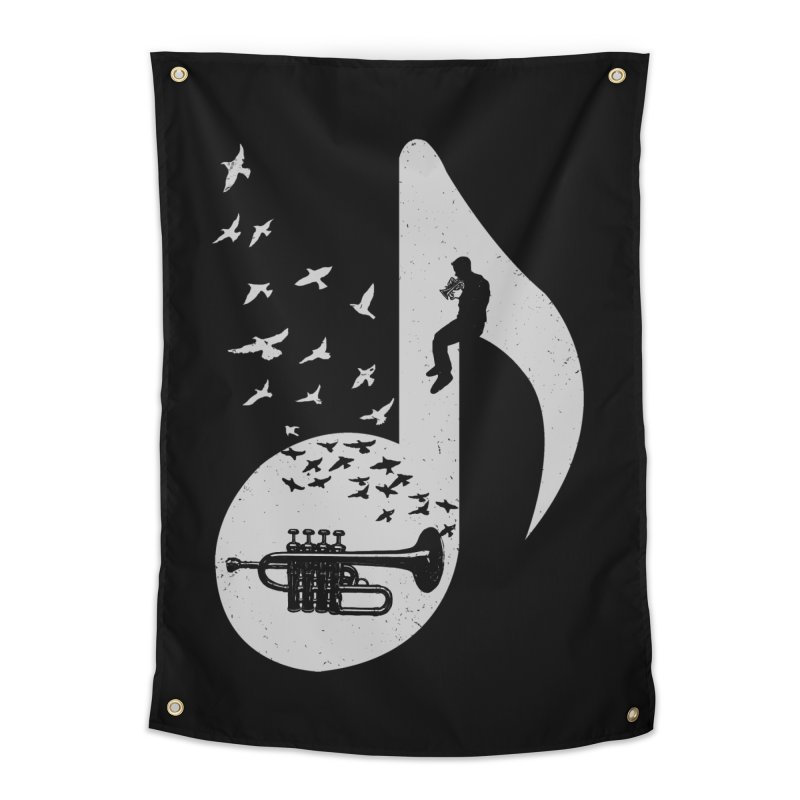 Musical - Piccolo Trumpet Home Tapestry by barmalisiRTB