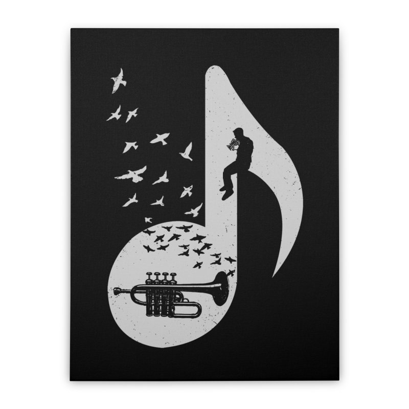 Musical - Piccolo Trumpet Home Stretched Canvas by barmalisiRTB