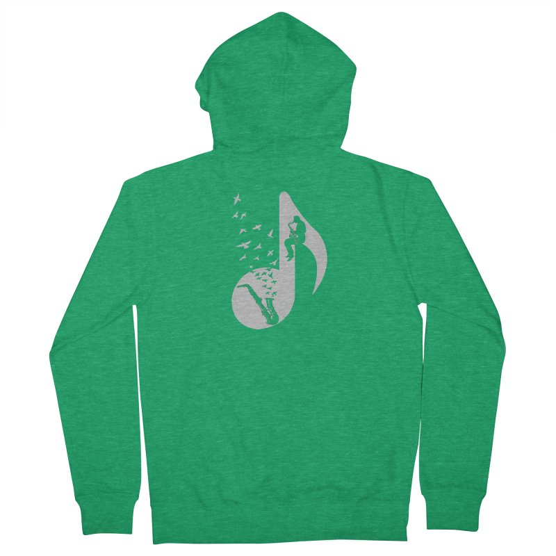Musical - Saxophone Men's Zip-Up Hoody by barmalisiRTB