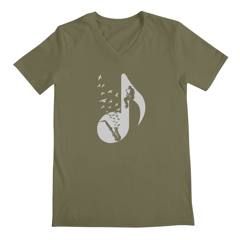 Musical - Saxophone Men's V-Neck by barmalisiRTB