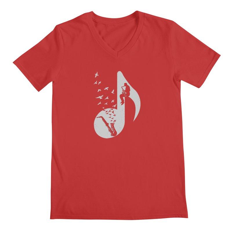 Musical - Saxophone Men's V-Neck by barmalisiRTB