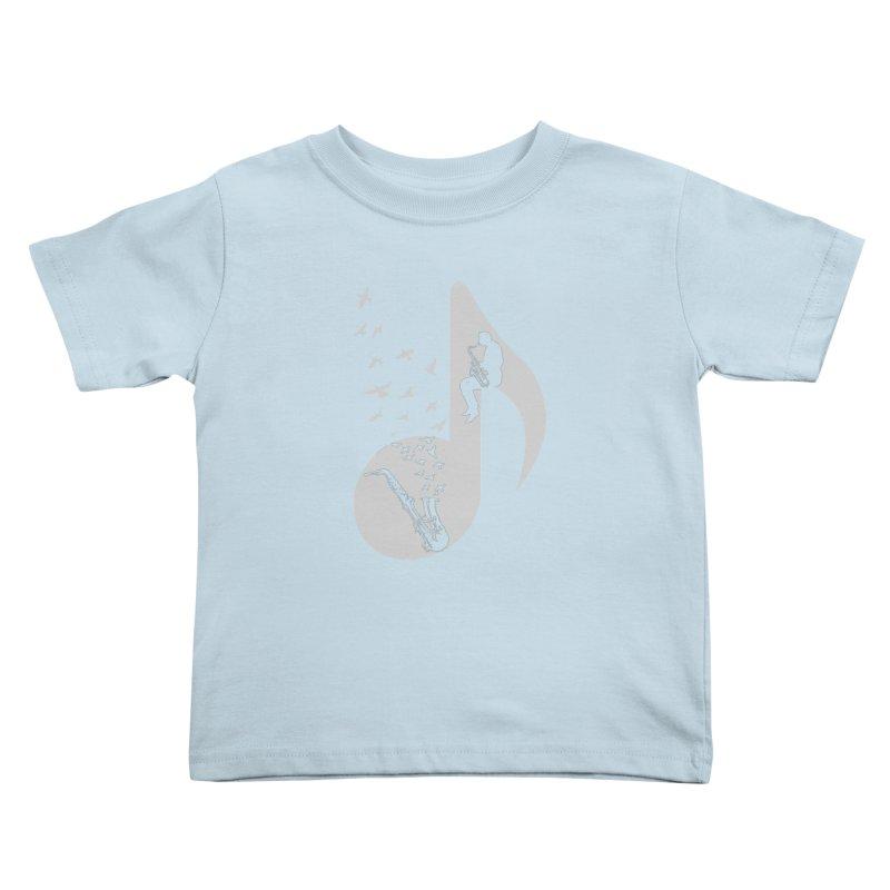 Musical - Saxophone Kids Toddler T-Shirt by barmalisiRTB
