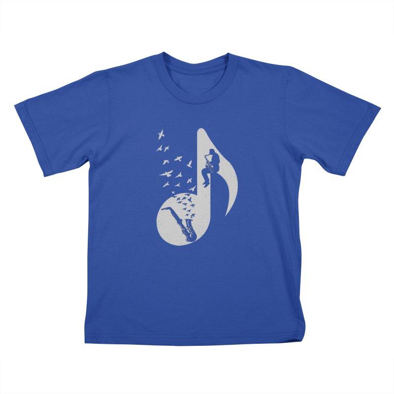 Musical - Saxophone Kids T-Shirt by barmalisiRTB
