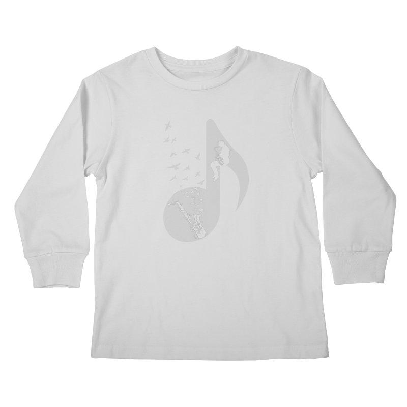 Musical - Saxophone Kids Longsleeve T-Shirt by barmalisiRTB