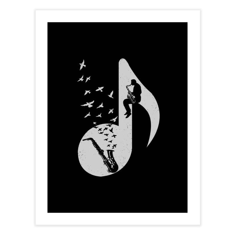 Musical - Saxophone Home Fine Art Print by barmalisiRTB
