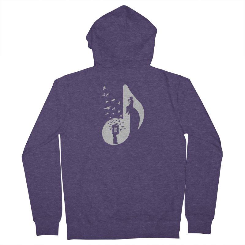 Musical - Singer Men's Zip-Up Hoody by barmalisiRTB