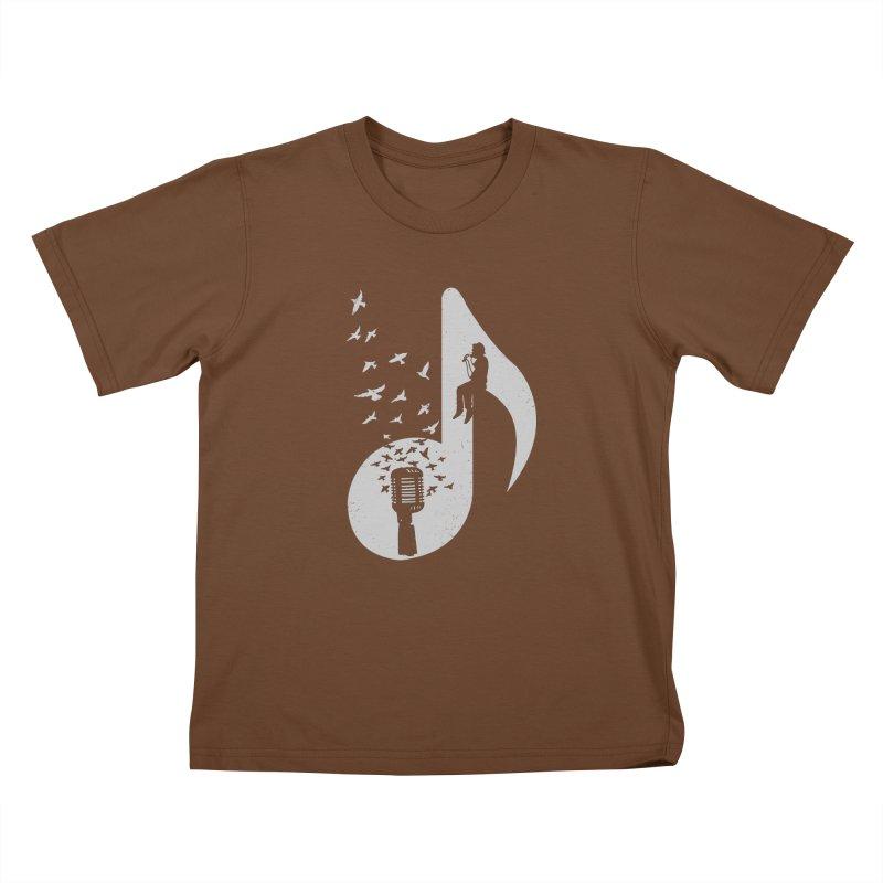 Musical - Singer Kids T-Shirt by barmalisiRTB