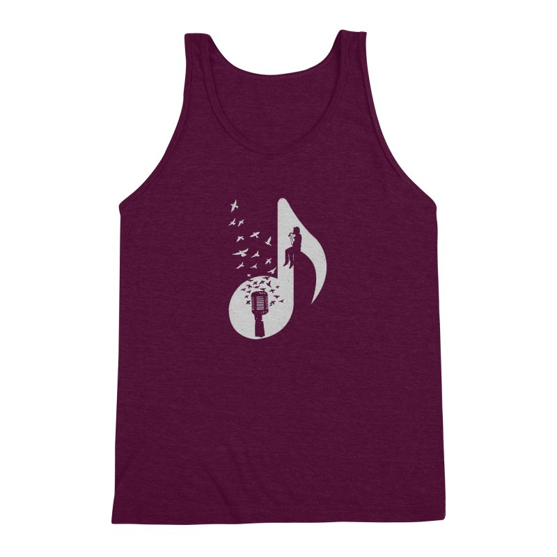Musical - Singer Men's Triblend Tank by barmalisiRTB