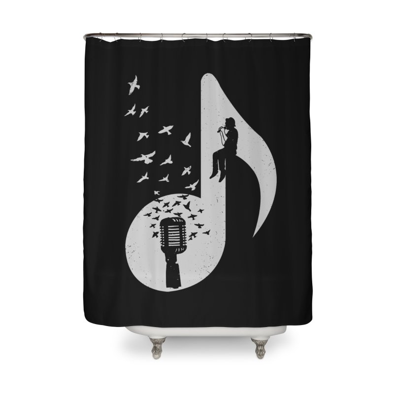 Musical - Singer Home Shower Curtain by barmalisiRTB