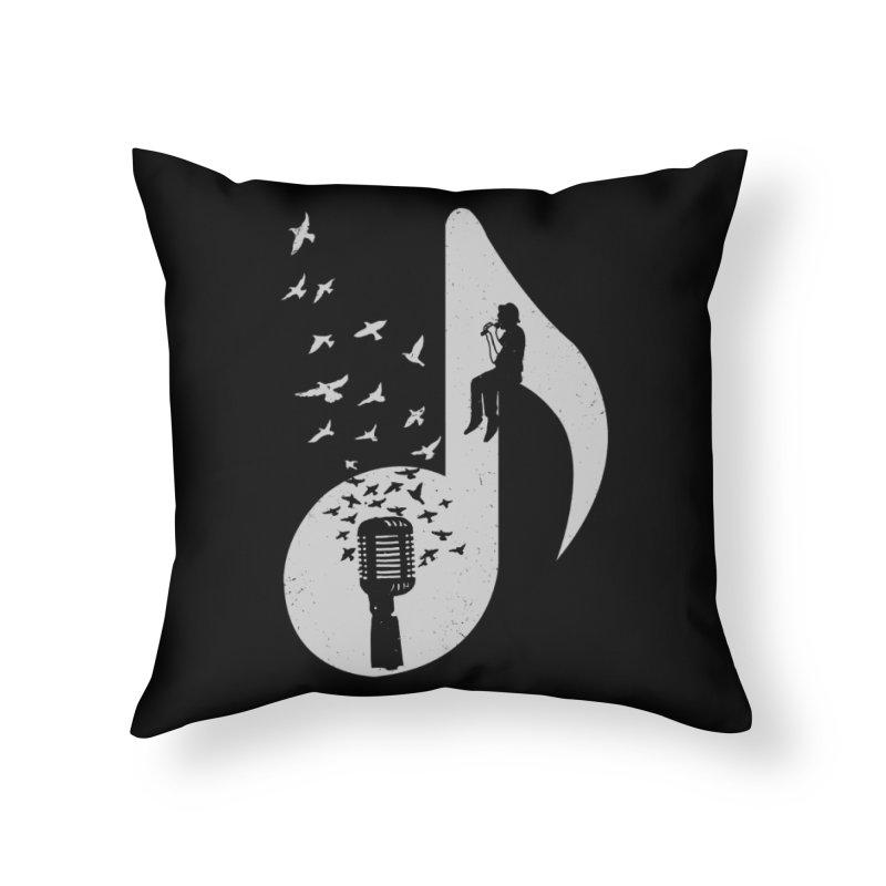 Musical - Singer Home Throw Pillow by barmalisiRTB