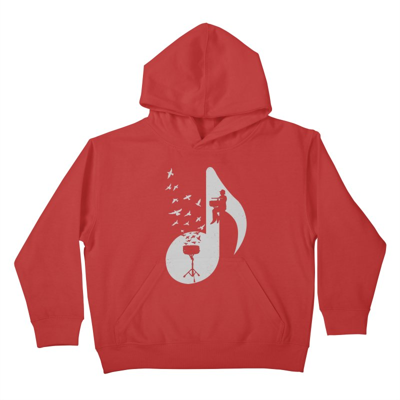 Musical - Snare Drum Kids Pullover Hoody by barmalisiRTB