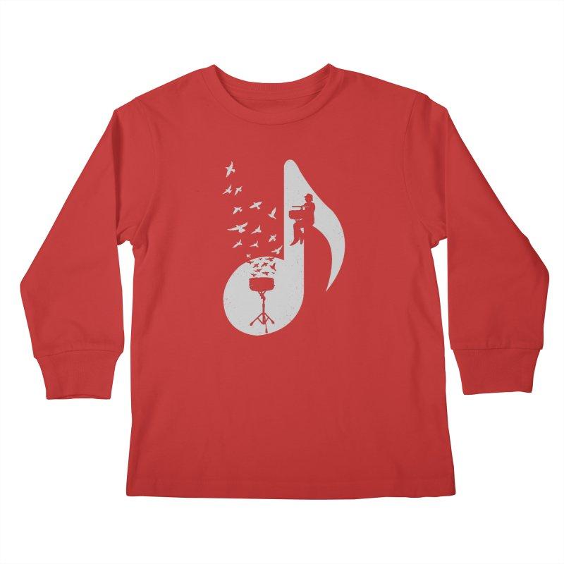 Musical - Snare Drum Kids Longsleeve T-Shirt by barmalisiRTB