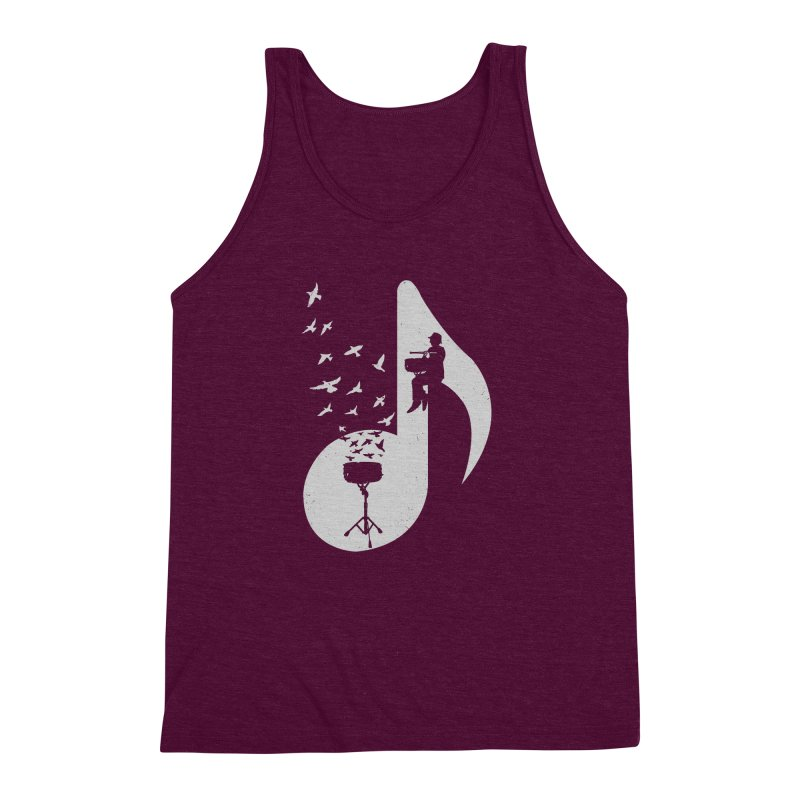 Musical - Snare Drum Men's Triblend Tank by barmalisiRTB