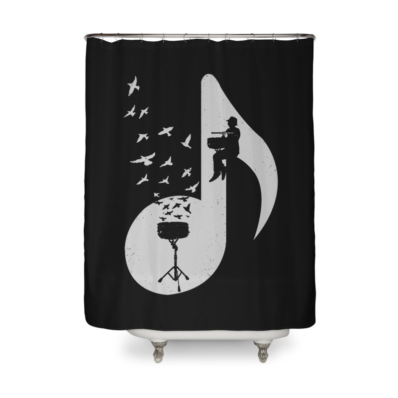 Musical - Snare Drum Home Shower Curtain by barmalisiRTB
