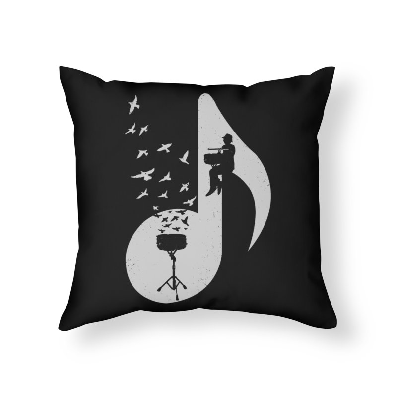 Musical - Snare Drum Home Throw Pillow by barmalisiRTB