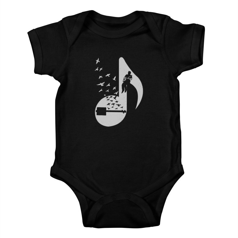 Musical- Cigar Box Guitar Kids Baby Bodysuit by barmalisiRTB