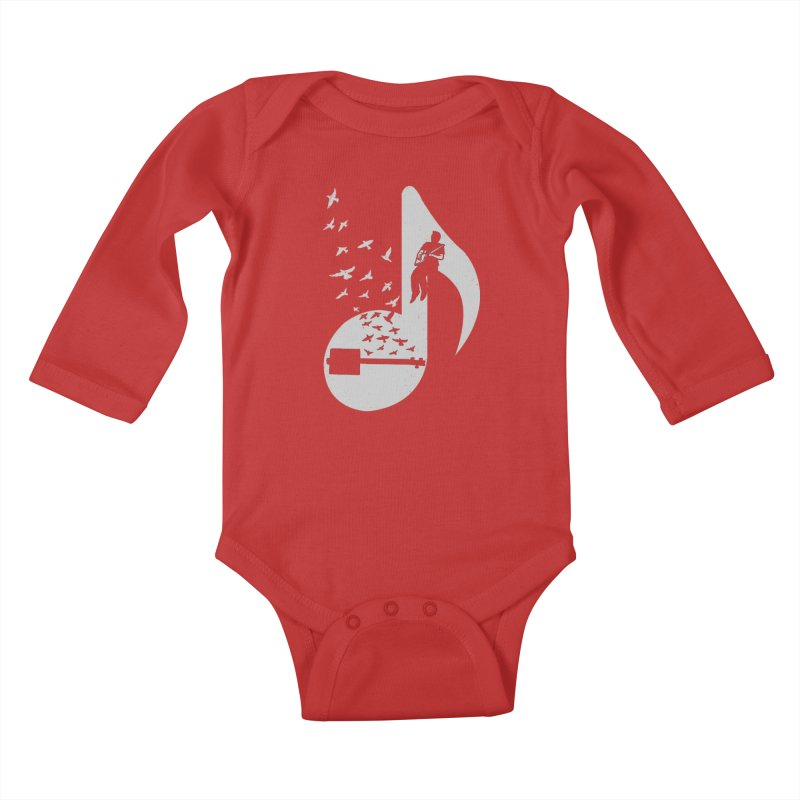 Musical- Cigar Box Guitar Kids Baby Longsleeve Bodysuit by barmalisiRTB