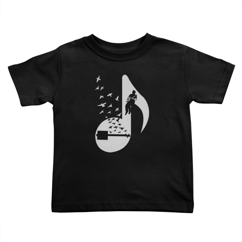 Musical- Cigar Box Guitar Kids Toddler T-Shirt by barmalisiRTB