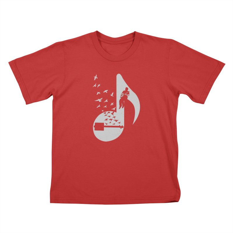 Musical- Cigar Box Guitar Kids T-Shirt by barmalisiRTB