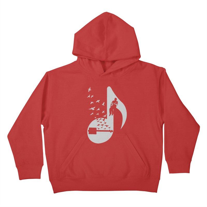 Musical- Cigar Box Guitar Kids Pullover Hoody by barmalisiRTB