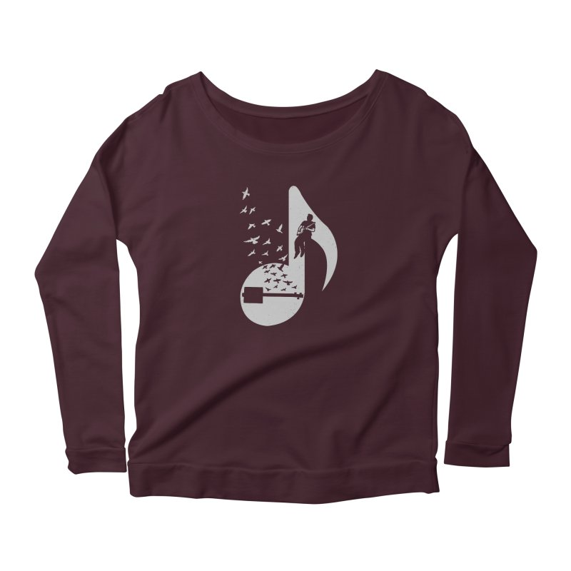 Musical- Cigar Box Guitar Women's Scoop Neck Longsleeve T-Shirt by barmalisiRTB