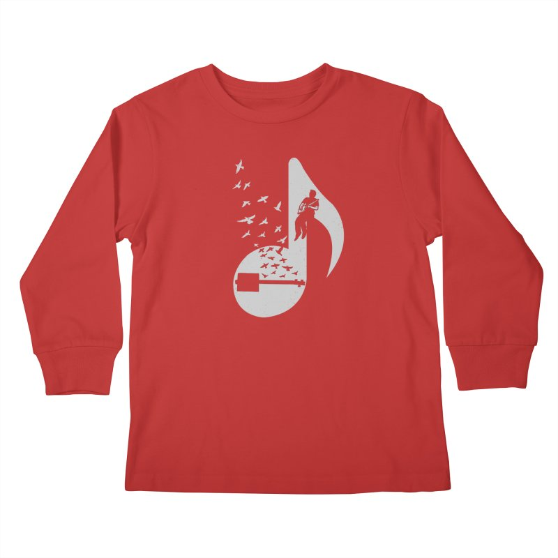 Musical- Cigar Box Guitar Kids Longsleeve T-Shirt by barmalisiRTB