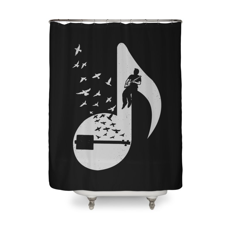 Musical- Cigar Box Guitar Home Shower Curtain by barmalisiRTB