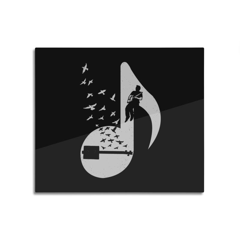 Musical- Cigar Box Guitar Home Mounted Aluminum Print by barmalisiRTB