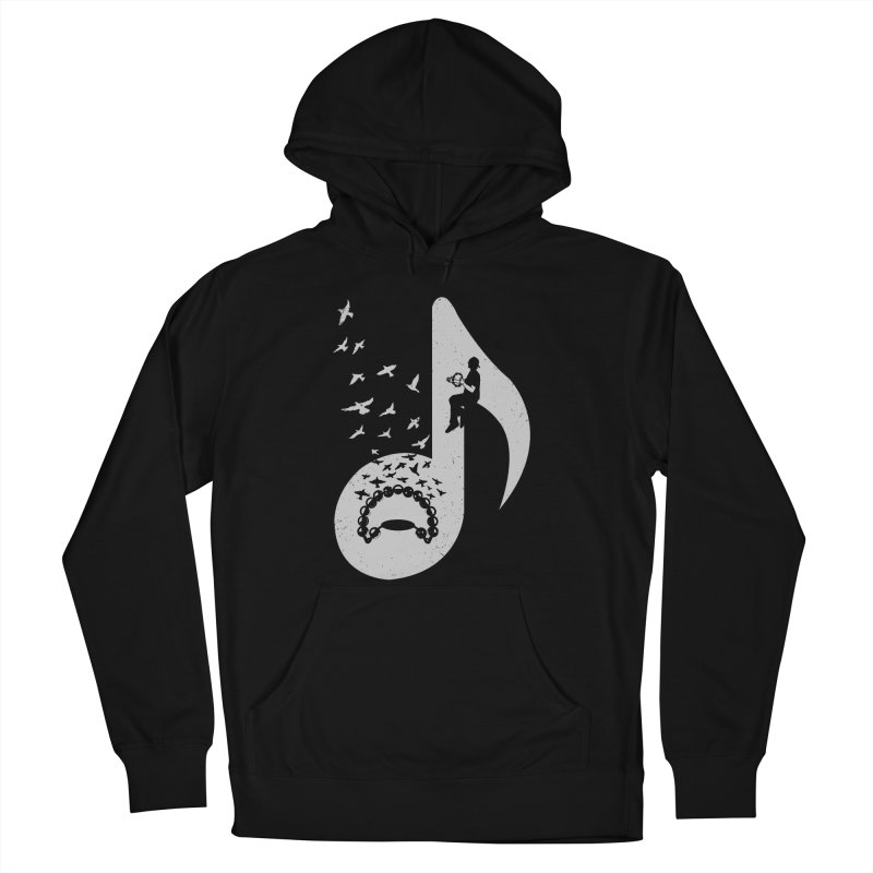 Musical note - Tambourine Women's French Terry Pullover Hoody by barmalisiRTB