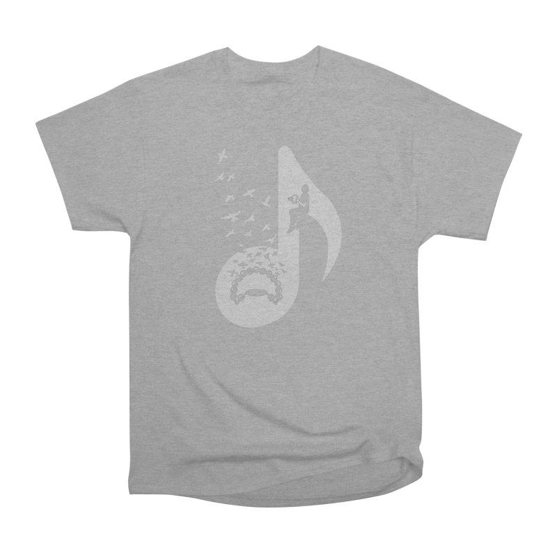 Musical note - Tambourine Women's Heavyweight Unisex T-Shirt by barmalisiRTB