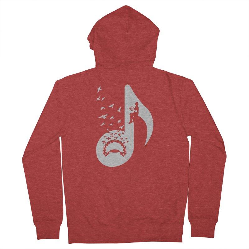 Musical note - Tambourine Men's Zip-Up Hoody by barmalisiRTB