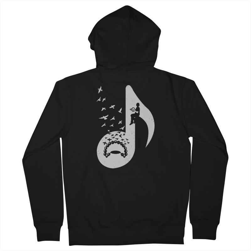 Musical note - Tambourine Men's French Terry Zip-Up Hoody by barmalisiRTB