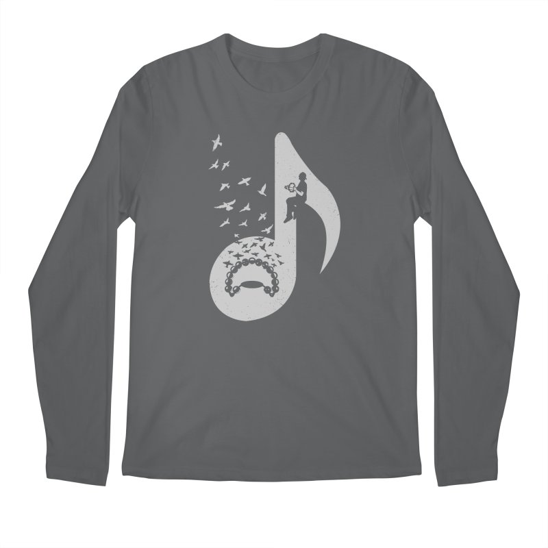 Musical note - Tambourine Men's Longsleeve T-Shirt by barmalisiRTB