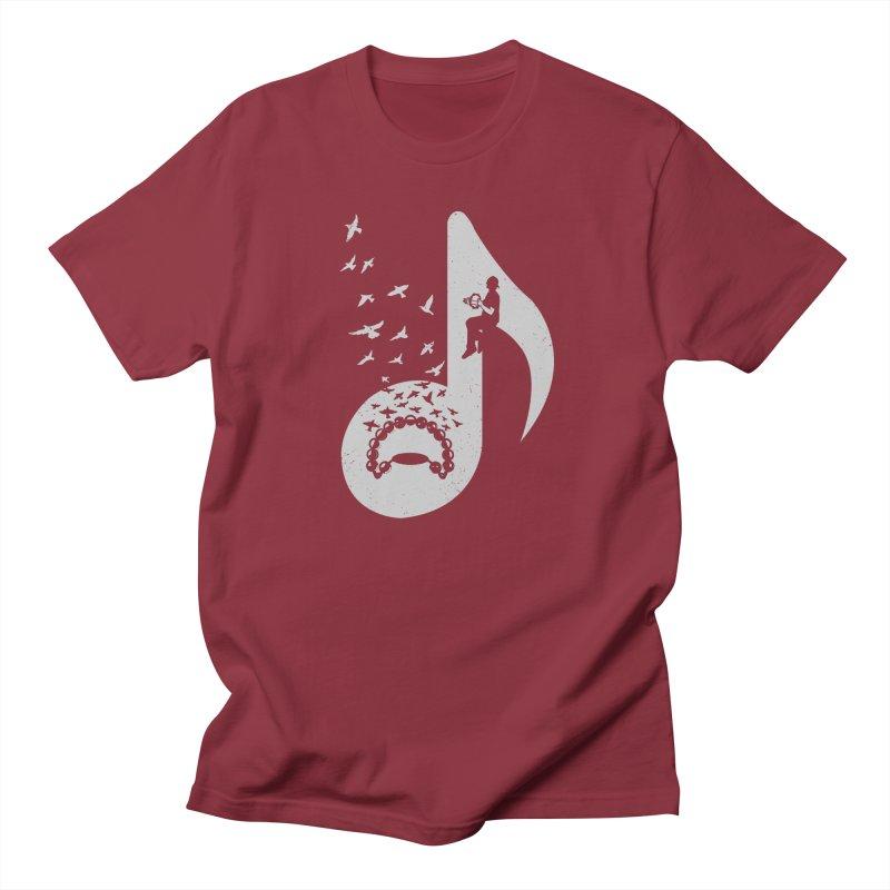 Musical note - Tambourine Men's Regular T-Shirt by barmalisiRTB