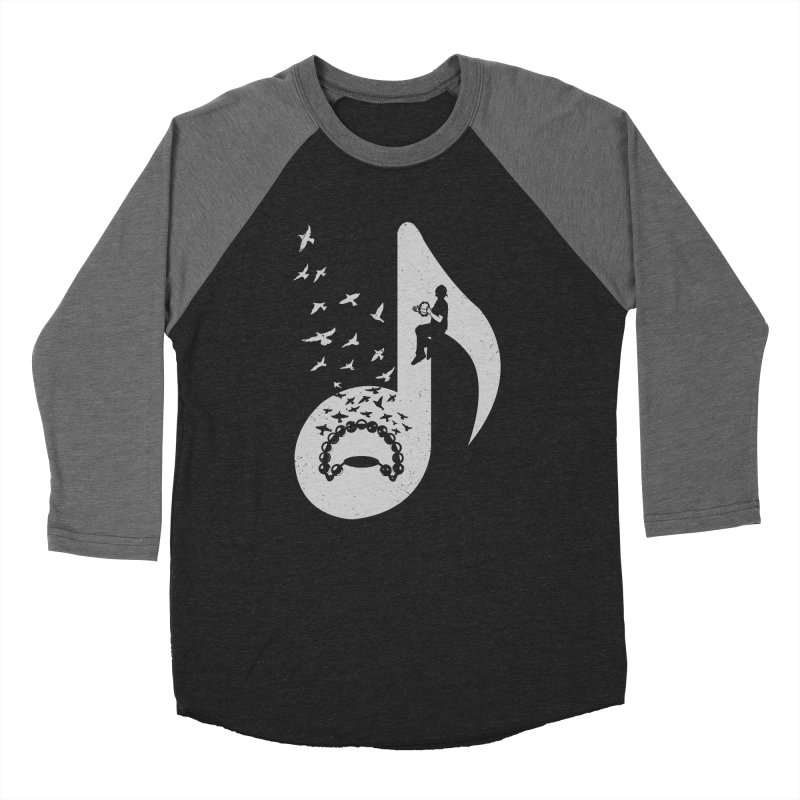Musical note - Tambourine Women's Baseball Triblend T-Shirt by barmalisiRTB