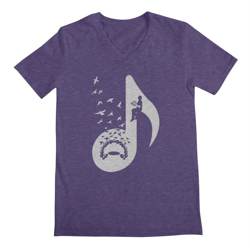 Musical note - Tambourine Men's V-Neck by barmalisiRTB