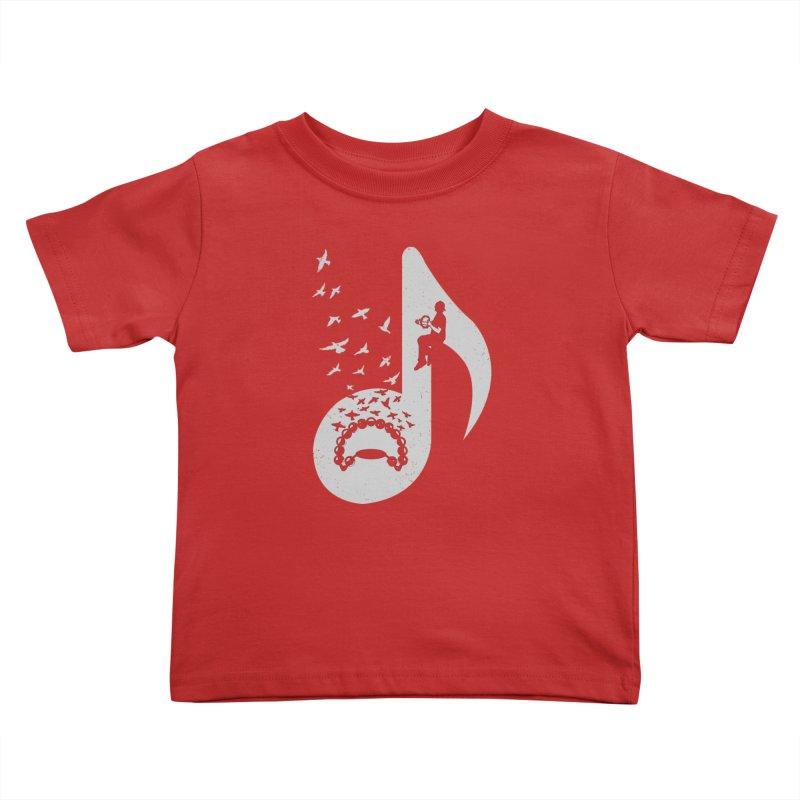 Musical note - Tambourine Kids Toddler T-Shirt by barmalisiRTB