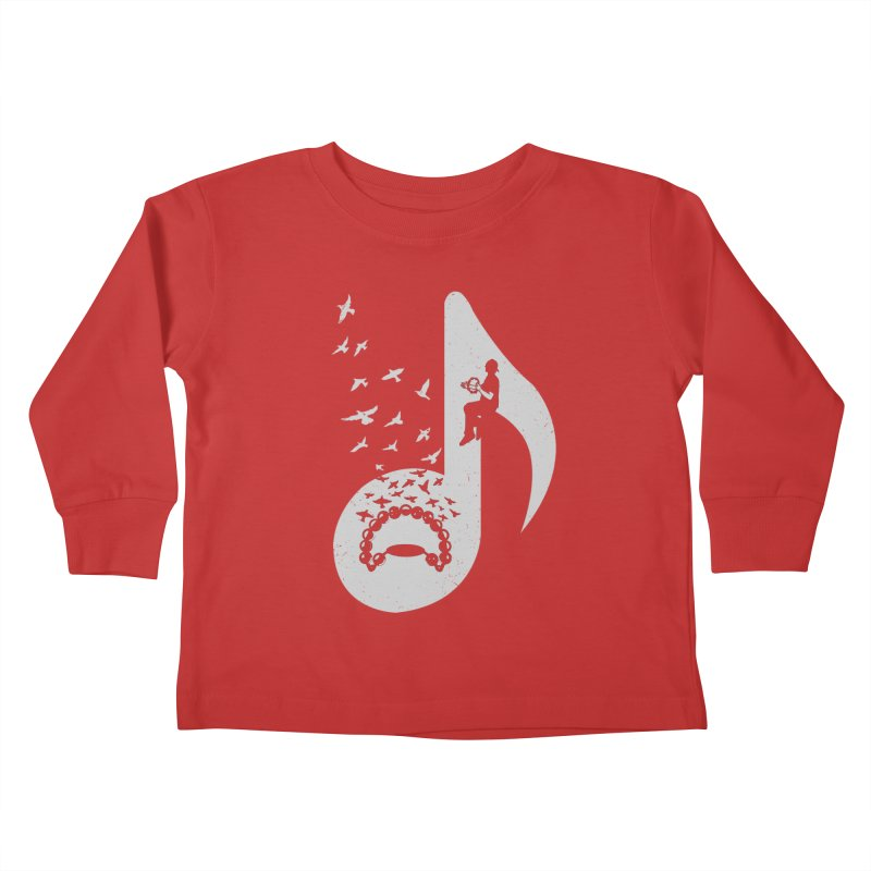 Musical note - Tambourine Kids Toddler Longsleeve T-Shirt by barmalisiRTB