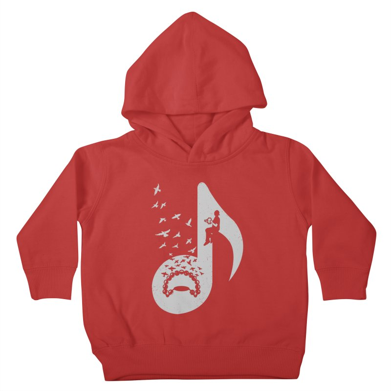 Musical note - Tambourine Kids Toddler Pullover Hoody by barmalisiRTB
