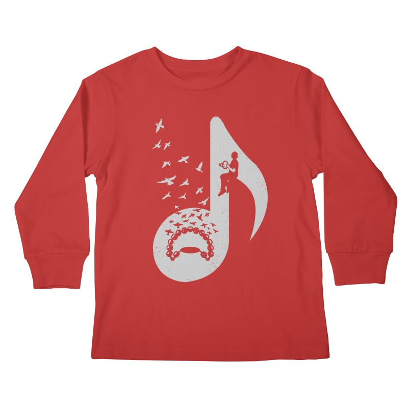 Musical note - Tambourine Kids Longsleeve T-Shirt by barmalisiRTB