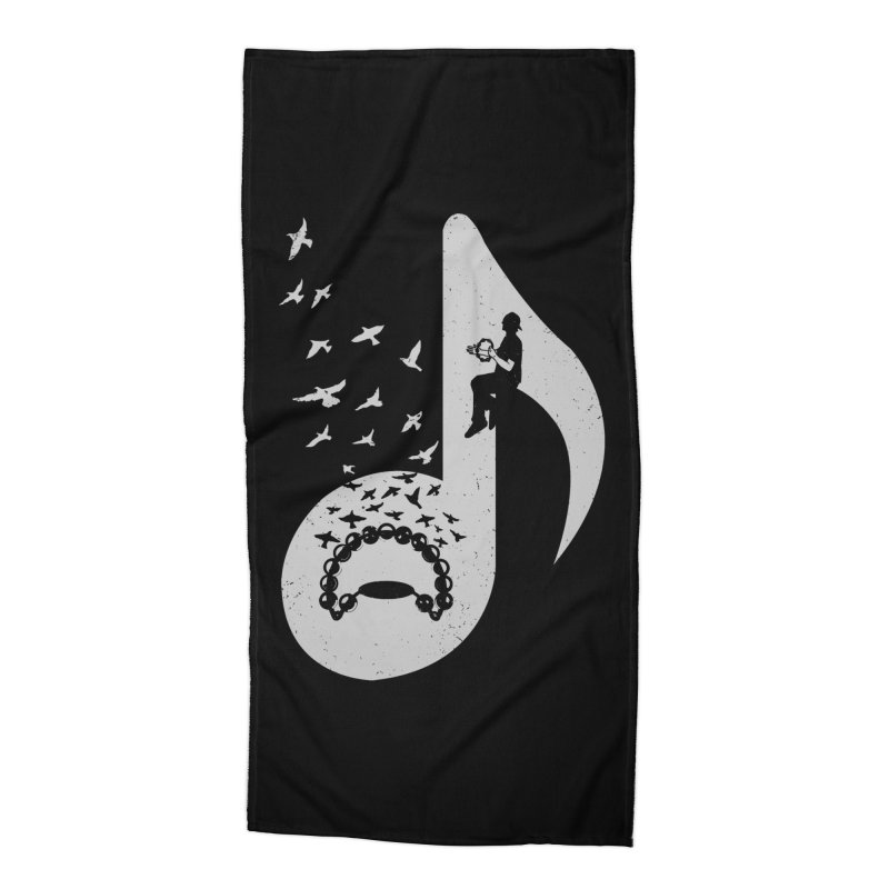 Musical note - Tambourine Accessories Beach Towel by barmalisiRTB