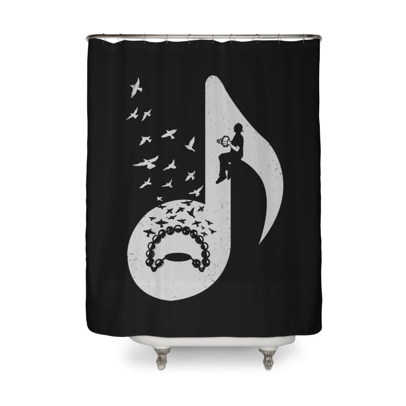 Musical note - Tambourine Home Shower Curtain by barmalisiRTB