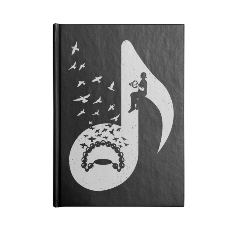 Musical note - Tambourine Accessories Notebook by barmalisiRTB