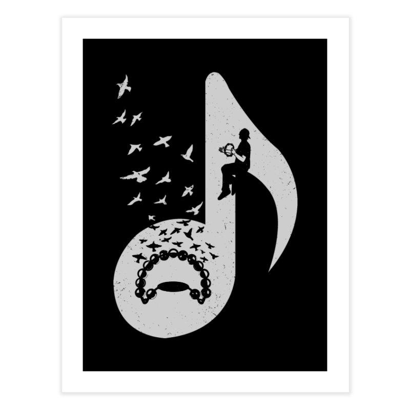Musical note - Tambourine Home Fine Art Print by barmalisiRTB